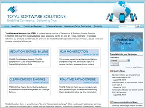 Total Software Solutions website