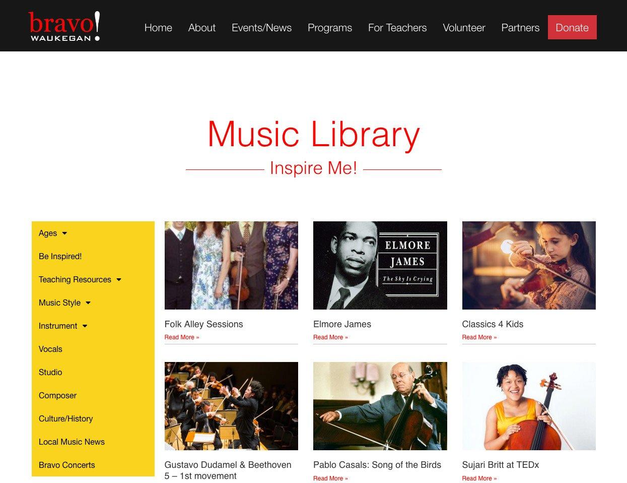 Bravo-Waukegan-Music-Library-