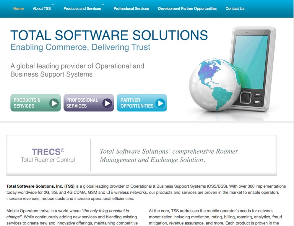 Total Software solutions site
