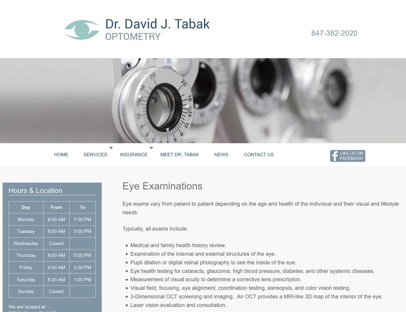 David Tabak OD site